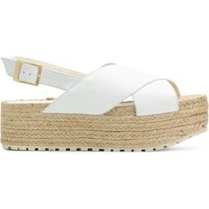 Paloma Barceló Guaria sandals (€155) ❤ liked on Polyvore featuring shoes, sandals, white, paloma barcelo sandals, white leather shoes, white shoes, paloma barcelo shoes and white sandals