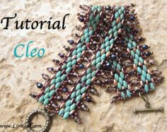 Cleo Superduo Twin Beadwork Bracelet PDF Tutorial