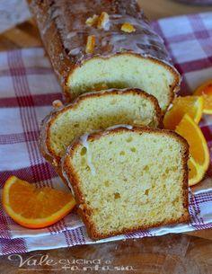 Plumcake di arancia glassato ricetta senza burro e olio