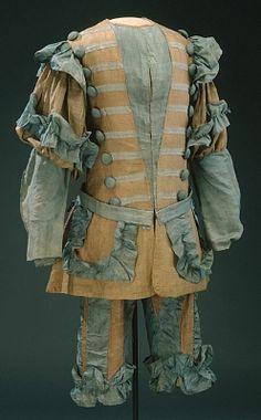 """Jacka till teaterdräkt, Watteau-kostym"""", 1600-talets slut.Datering  1600-talets andra hälftÖvriga Nyckelord  rockSamling  LivrustkammarenInventarienummer  29293 (3658:c)"""