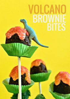 For that dinosaur lover in your life, these Volcano Brownie Bites are an allergen-friendly dino-mite dessert!