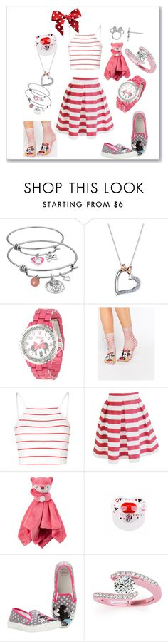 """""""Fashion story #34"""" by kitty-style101 ❤ liked on Polyvore featuring Disney, eWatchFactory, ASOS, Glamorous and Allurez"""