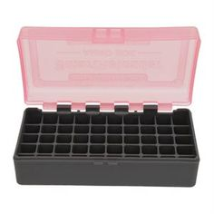 Smart Reloader Ammo Box Features: - Ammo Box #11 - Capacity: Holds 50 Rounds - Color: Pink