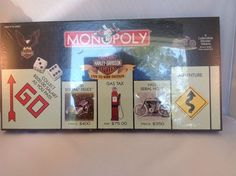 2000 Harley-Davidson Monopoly Six Pewter Collectible Tokens New Shrink Wrapped #ParkerBrothers