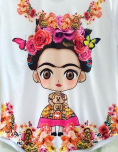 Baby Frida kahlo flowers art