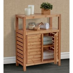 View a larger version of this product image - Furniture - Bathroom Table, Bathroom Floor Cabinets, Bamboo Bathroom, Wood Bathroom, Bathroom Flooring, Bathroom Furniture, Bathroom Storage, Master Bathroom, Bamboo Furniture