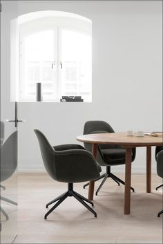 The Swoon Chair reflects Space's intuitive approach to design, which is inspired by circumstances and the human condition. 11 Howard Hotel, Space Copenhagen, Meeting Rooms, Co Working, Lounge Areas, Swivel Chair, Modern Interior Design, Chair Design, Stools