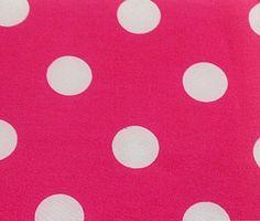 3/4th Inch Polka Dot Poly Cotton White Dot on Hot Pink 60 Inch Fabric by the Yard (F.E.) The Fabric Exchange http://www.amazon.com/dp/B00I55JO7W/ref=cm_sw_r_pi_dp_gQxKwb0ZJKM78