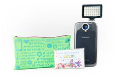 Phoneography Starter Kit - A lens, light and phoneography lessons in an adorably giftable pouch ($40.00, http://photojojo.com/store)