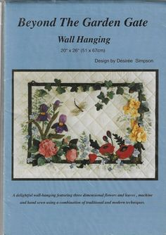 Patchwork Quilt Patterns, Quilting Patterns, Sewing Patterns, Quilted Wall Hangings, Garden Gates, Three Dimensional, Hand Sewing, Leaves, 3d