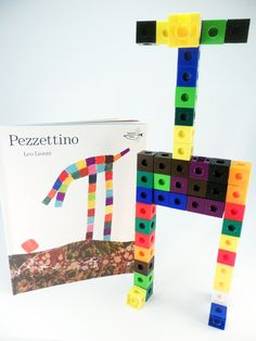 Ivy Kids Subscription Kit - Use the linking cubes to create your own imaginative creature inspired by the story Pezzettino
