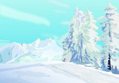 Winter, Illustration for Medinatur, Illustrator Winter Illustration, Mount Everest, Illustrator, Graphics, Mountains, Nature, Travel, Snow, Voyage