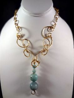 Handmade 14kt Gold Filled Necklace Shirley Jackson by AJewelryC