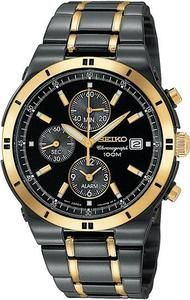 Seiko men's black two tone stainless alarm chrono for only $281 Get yours by going to http://www.mypricehunters.net/servlet/the-1532/SEIKO-Men%27s-Black-Two/Detail
