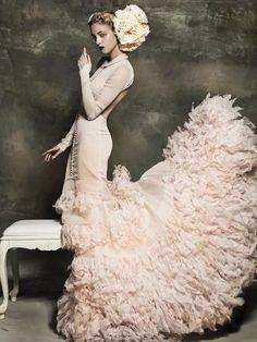 #pink #wedding dress www,brayola.com