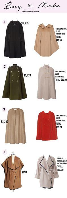 Buy or Make: Cape & Wrap Jacket Edition #burdastyle #buyormake #sew #sewing #diy #handmade