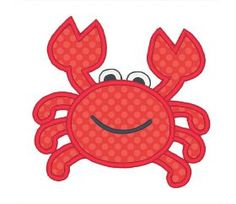 Designs :: Occasions :: Summer :: Applique Crab