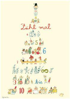 Zähl mal - Poster von Sybille Hein im Kinderpostershop