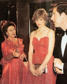 June 24, 1981 Princess Diana, Prince Charles and Princess Margaret at the premiere of the film 'For Your Eyes Only', at the Odeon, Leicester Square