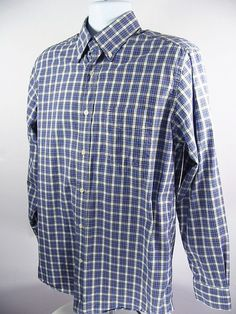 9d8ba794 TOMMY HILFIGER Mens Casual Shirt Blue White Red Plaid Check Size Medium # TommyHilfiger #ButtonFront
