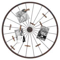 Wheel Wall Photo Holder.