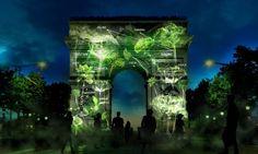 光の木々で彩られたエッフェル塔。デジタルとアートを融合させた植林活動「1 Heart 1 Tree」 | AdGang