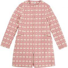 Hoss Intropia Brocade Pink Coat   Vestiaire Collective