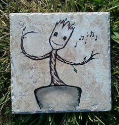 Baby Groot inspired dancing tree  on roughly by ScribbleSketches, $14.00