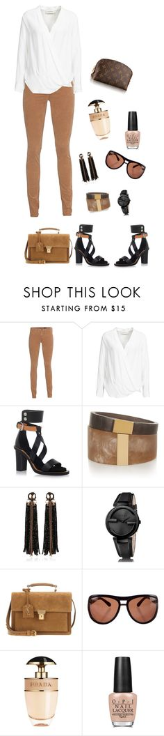 """""""Casual Friday ."""" by myi-savage ❤ liked on Polyvore featuring AG Adriano Goldschmied, By Malene Birger, Isabel Marant, Begada, Gucci, Yves Saint Laurent, Tom Ford, Prada and OPI"""