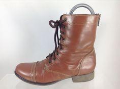 $55 Steve Madden Womens Brown Ankle Boots 6.5 #SteveMadden #FashionAnkle