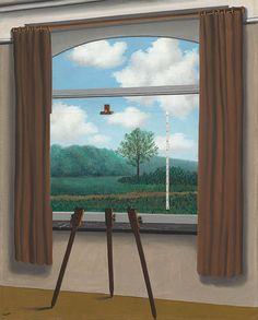 René Magritte,La Condition humaine,1933,Olio su tela, cm 100x81,Washington, National Gallery of Art.Dono del Collectors Commitee.