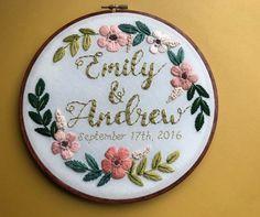Custom Personalized Embroidery Hoop Art by HoffeltAndHooperCo
