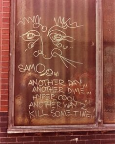 Vintage Shots of Jean-Michel Basquiat's SAMO© Graffiti - Art Vintage Shot of Jean-Michel Basquiat's SAMO© Graffiti - Photo credit: Henry Flynt, 1979 Jean Michel Basquiat, Radiant Child, Neo Expressionism, Art Hub, New York Art, Keith Haring, American Artists, Yorkie, Modern Art