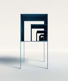 The Fibonacci Shelf by Peng Wang can be stacked in numerous ways ignant.de