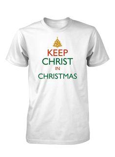 Keep Christ In Christmas Jesus Christian T-Shirt for Men