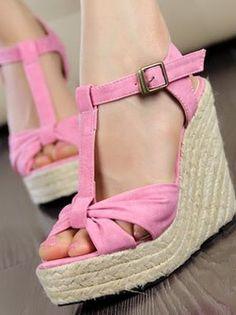 Cute Women's Platform Peep Toe Wedge High Heel Sandal