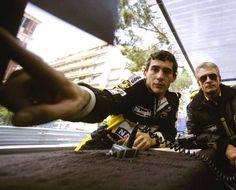 Ayrton Senna & Gerárd Ducarouge, Monaco, 1986.