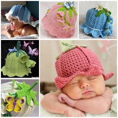 These Adorable Crochet Baby Bluebell Hats are great for props, parties, as a part of a costume and for everyday use.  Check pattern: http://wonderfuldiy.com/wonderful-diy-adorable-crochet-baby-bluebell-hat/