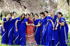 Most Popular Traditional Indian Wedding Dress Brides Indian Bridesmaids, Bridesmaid Outfit, Wedding Bridesmaids, Wedding Dresses, Wedding Outfits, Wedding Bouquets, Estilo India, Indian Wedding Pictures, Baby Blue Weddings
