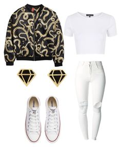 """""""money longer // lil Uzi"""" by tiaramb11 ❤ liked on Polyvore featuring H&M, Topshop, (+) PEOPLE, Converse and Charlotte Russe"""