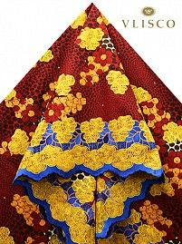 Vlisco Lace Fabric | Vlisco Fabric With Lace | Empire Textiles.