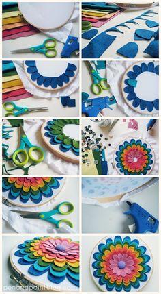 pen & paint: Make Something Pretty - easy flower hoop art