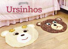 CROCHE COM RECEITA: Tapetes em croche modelos ursos para as meninas e ...