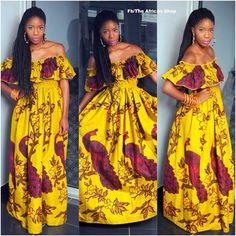 Colourful Maxi Dress by THEAFRICANSHOP on Etsy, £70.00