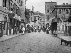 Street Kerkyra, Via Niceforo Image Index of Art & Architecture Corfu Island, Corfu Greece, Back In Time, Art And Architecture, Greek, Street View, History, Image, Memories