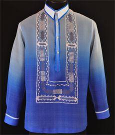 Monochromatic Navy Blue Barong Tagalog - Barongs R us Barong Tagalog, Filipiniana Dress, Philippines Fashion, Line Shopping, Groom Attire, Burgundy Color, Navy Blue, Graphic Sweatshirt, Embroidery