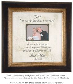 Dad Personalized Frame Father of the Bride by PhotoFrameOriginals
