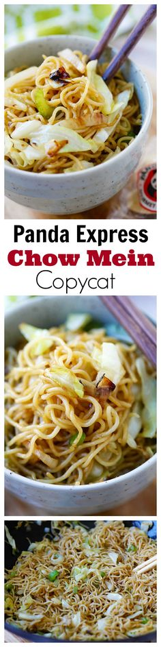 Panda Express Chow Mein!!  BEST copycat recipe EVER, tastes EXACTLY like Panda Express. So good, so easy, takes 15 mins!!! | rasamalaysia.com