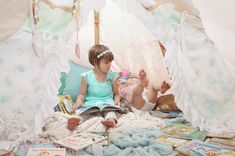 Kids with DIY Reading Nook