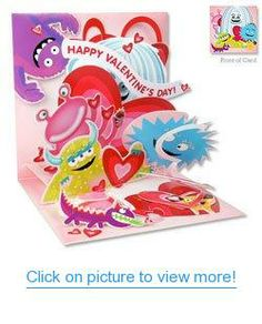 Valentines Day Pop Up Card - Monster Love #Valentines #Day #Pop #Card #Monster #Love